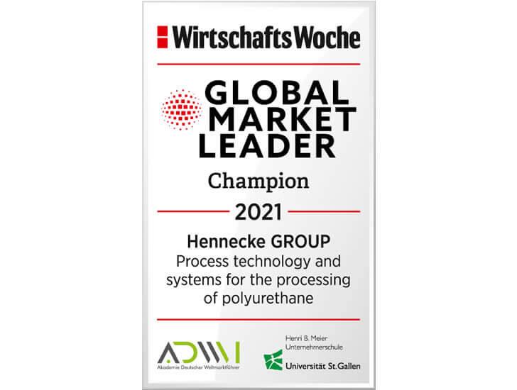 Hennecke is global market leader